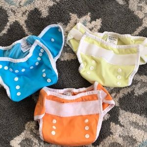 3 Thirsties Diaper covers Size 1: 0-9mths/6-18lbs
